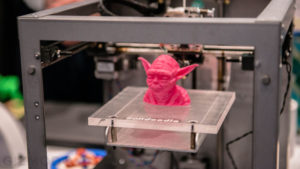 An example of 3d printing example of Yoda