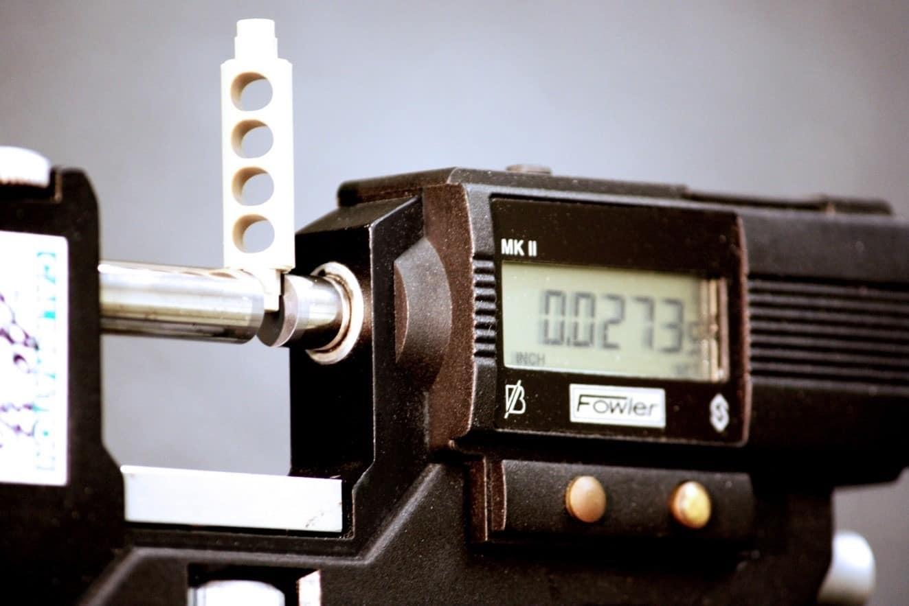 A precision machining tolerance scale